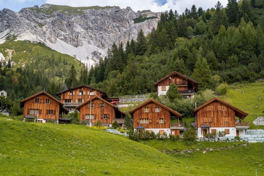 Alpine houses in Malbun, Liechtenstein