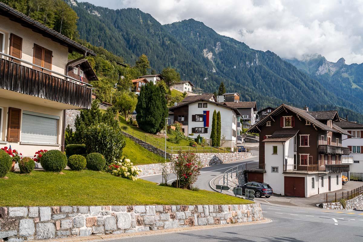 Alpine houses in Triesenberg, Liechtenstein