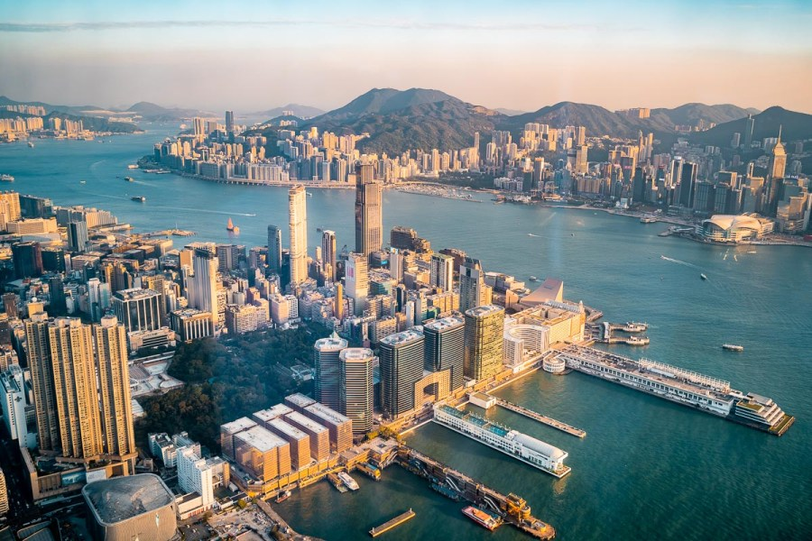 Hong Kong skyline from the Ritz-Carlton Hong Kong