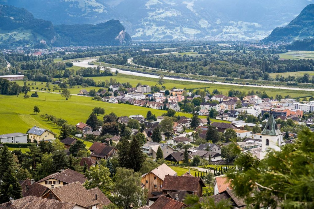 Panoramic view from Triesenberg, Liechtenstein