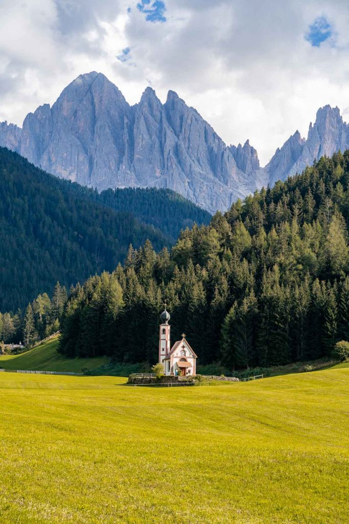 Church of St. John in Ranui, Dolomites
