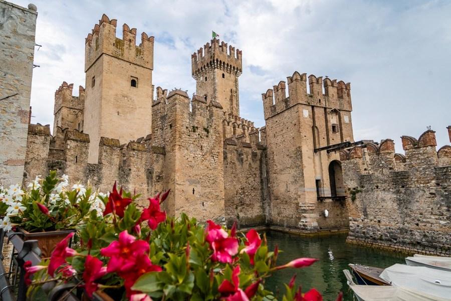 Rocca Scaligero Castle in Sirmione, Lake Garda