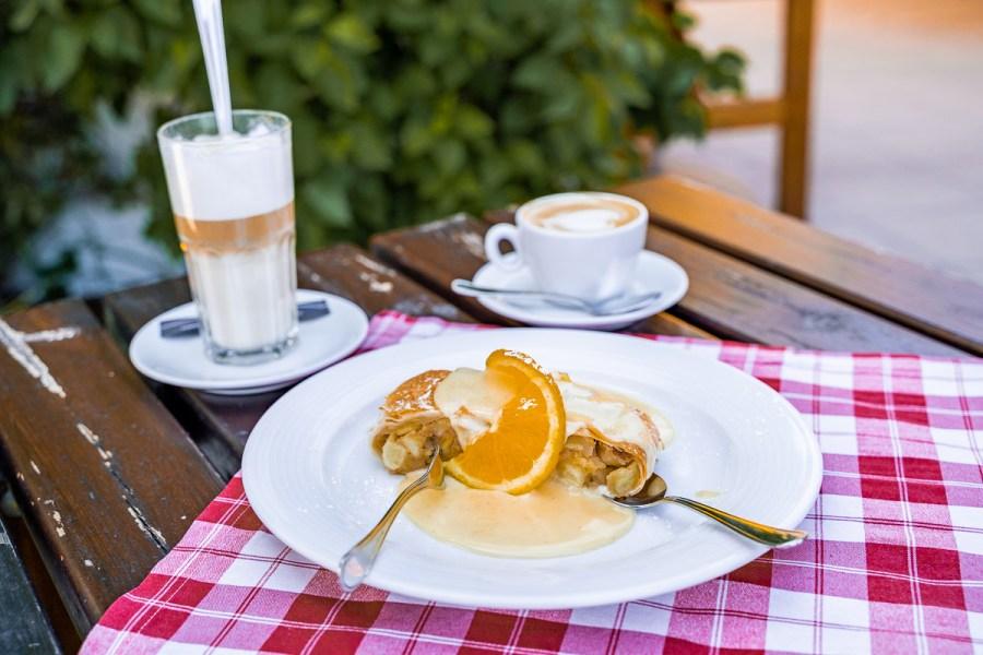 Afternoon snack at Restaurant Rudolfsturm Hallstatt
