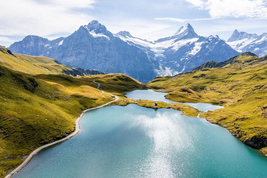 Aerial view of Bachalpsee, Switzerland