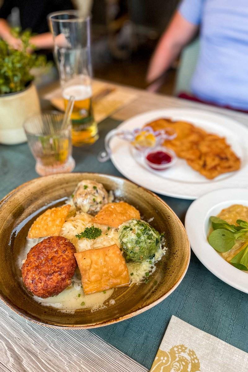 Dinner at Gasthof Goldener Adler in Innsbruck, Austria