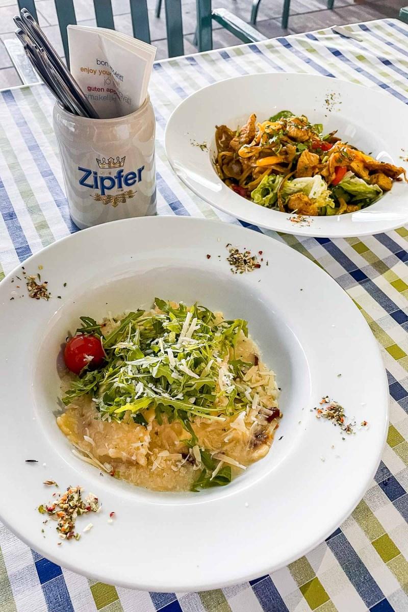 Dinner at Mitterberghof Jausenstation, Austria