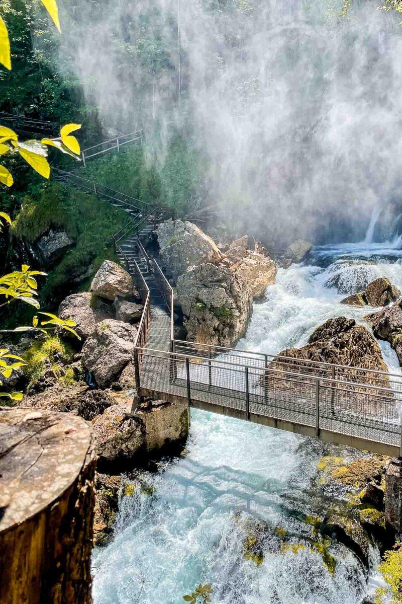 Rainbow bridge at Gollinger waterfall, Austria