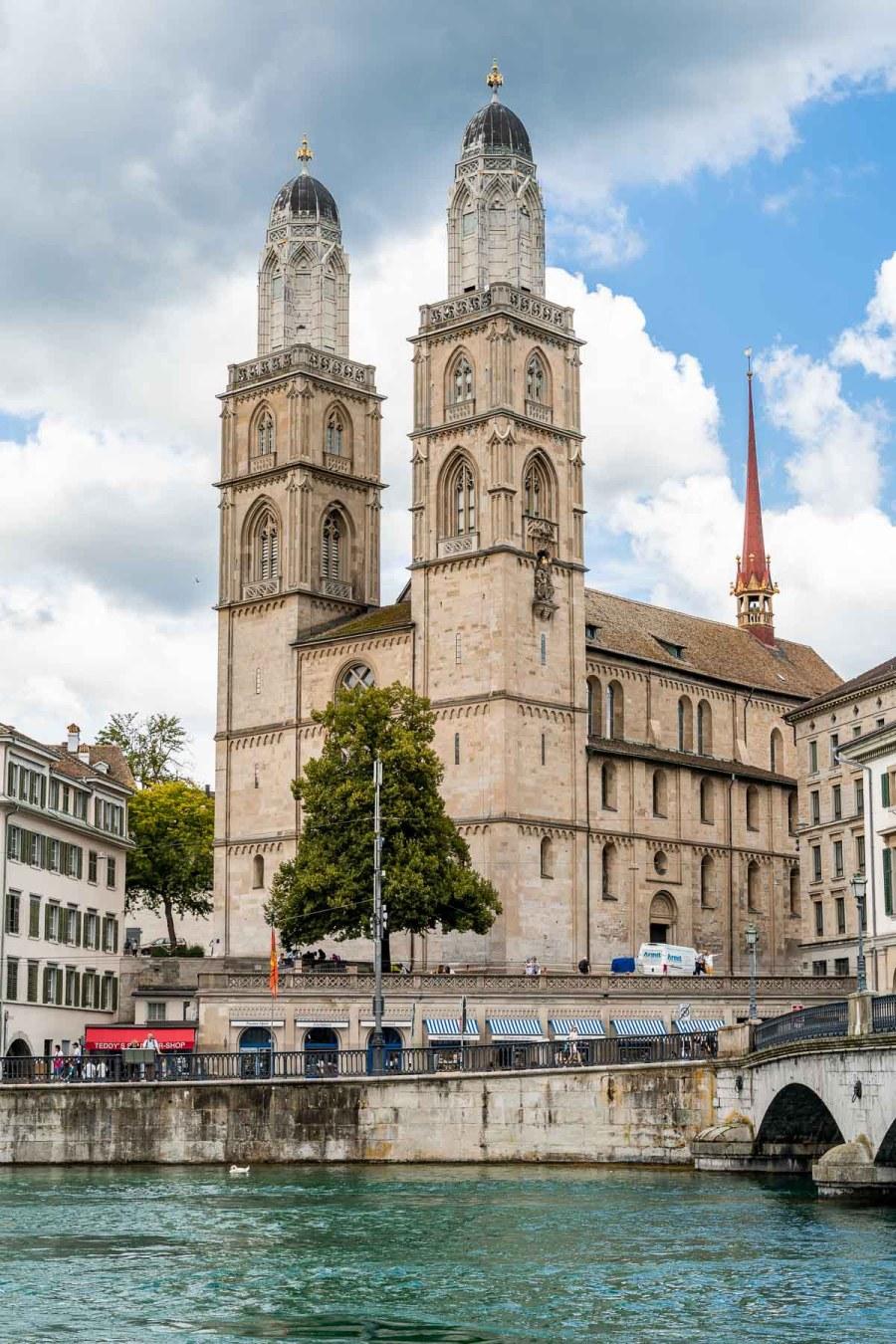 Grossmünster in Zurich, Switzerland