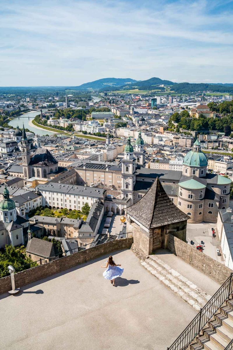 Panoramic view of Salzburg from Hohensalzburg Castle