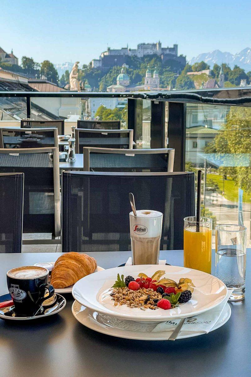 Breakfast at Imlauer Skybar, Salzburg