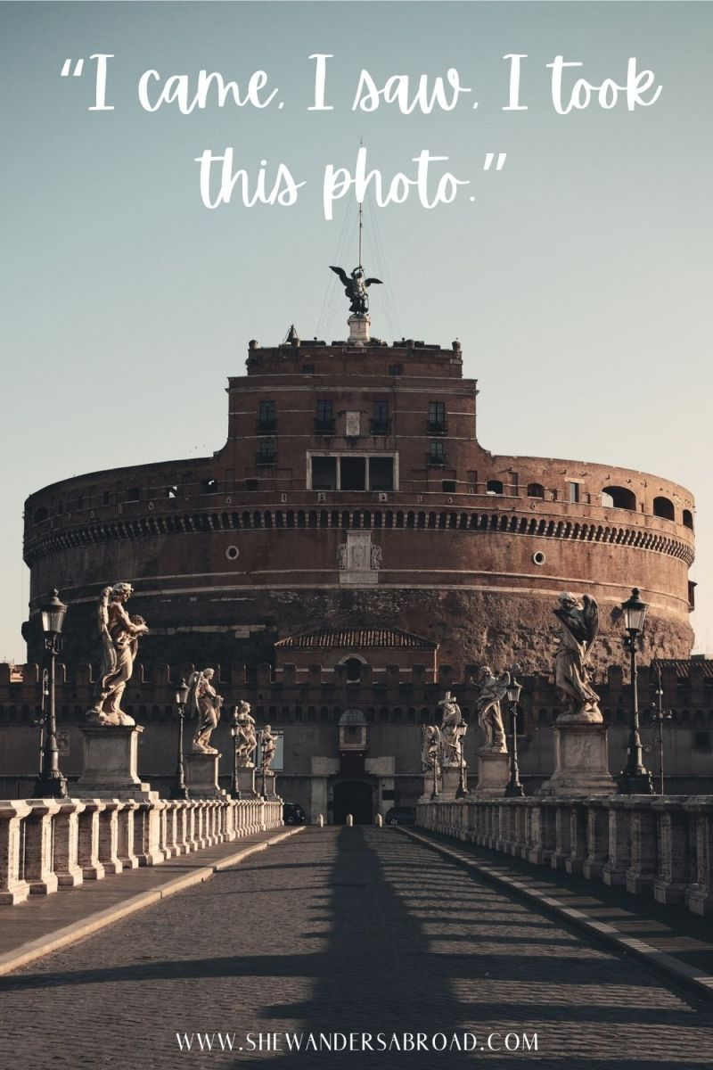 Funny Captions About Rome