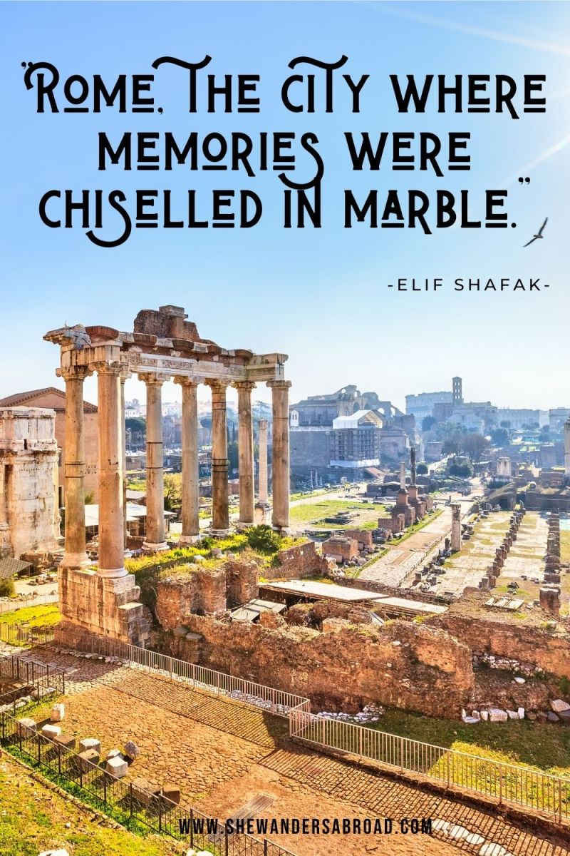 Meaningful Rome Quotes for Instagram