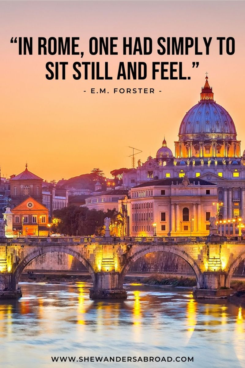 Best Rome Quotes for Instagram