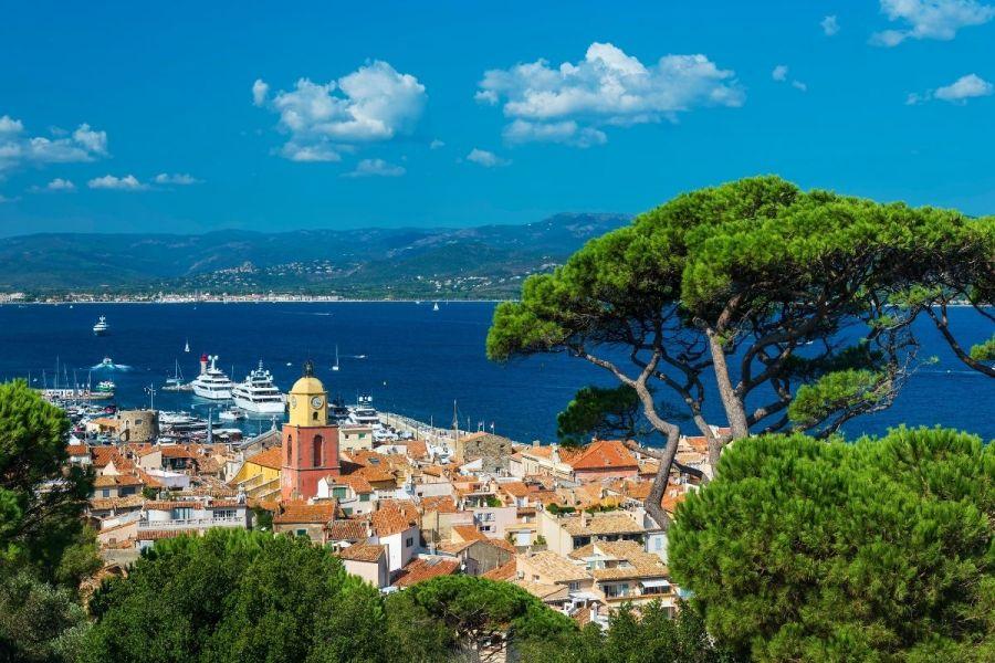 Panoramic view of Saint-Tropez