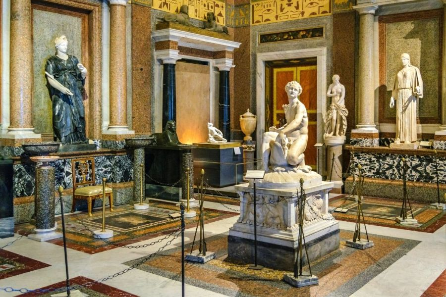 Interior of the Borghese Gallery in Rome, Italy
