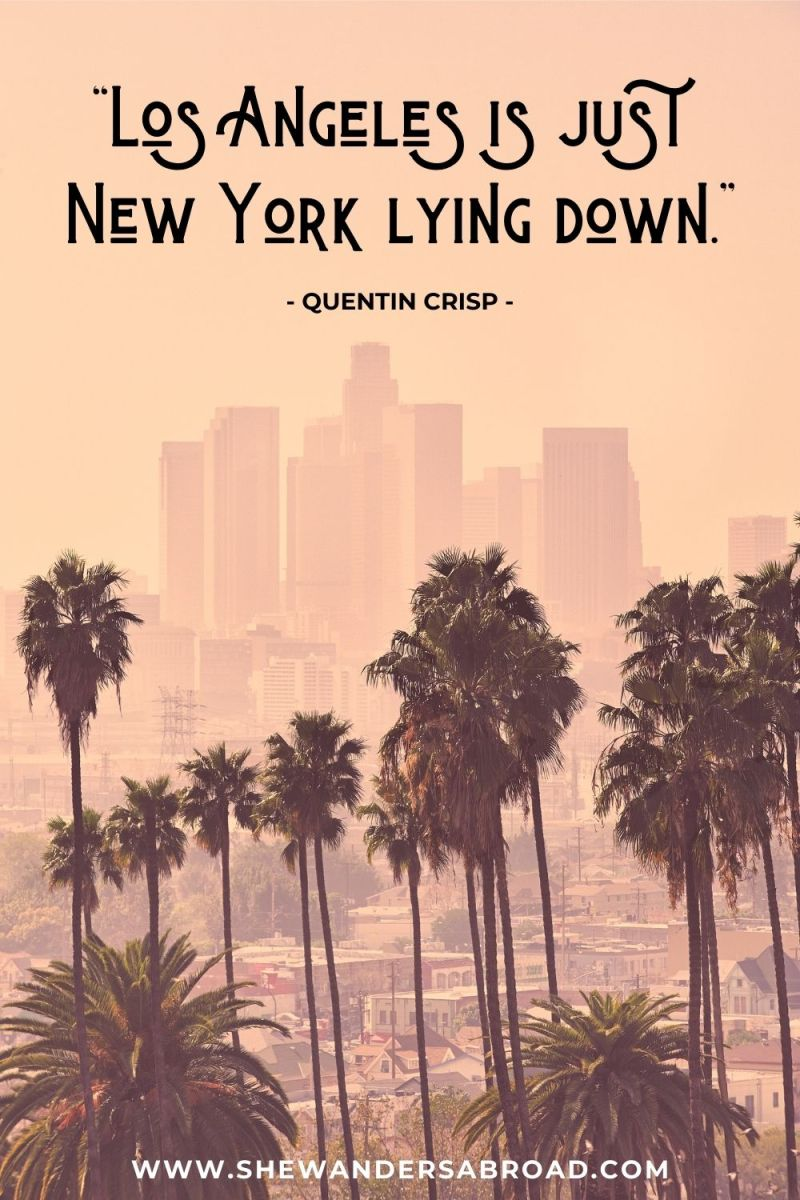 Best Quote about Los Angeles vs New York