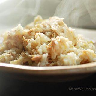 Chicken and Rice Recipe | shewearsmanyhats.com