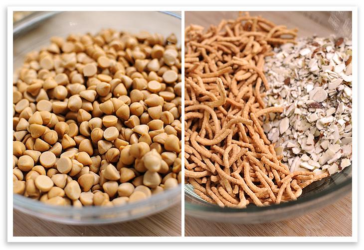Haystacks ingredients in bowls