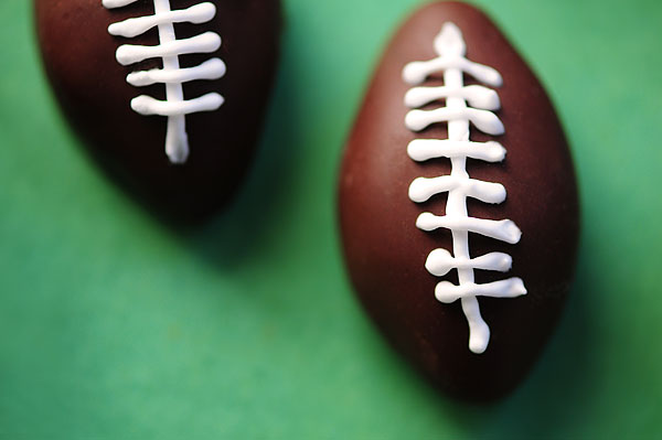 Chocolate Peanut Butter Footballs Recipe   shewearsmanyhats.com