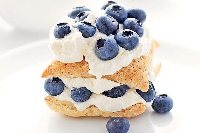 Easy Blueberry Lemon Napoleon Dessert Recipe