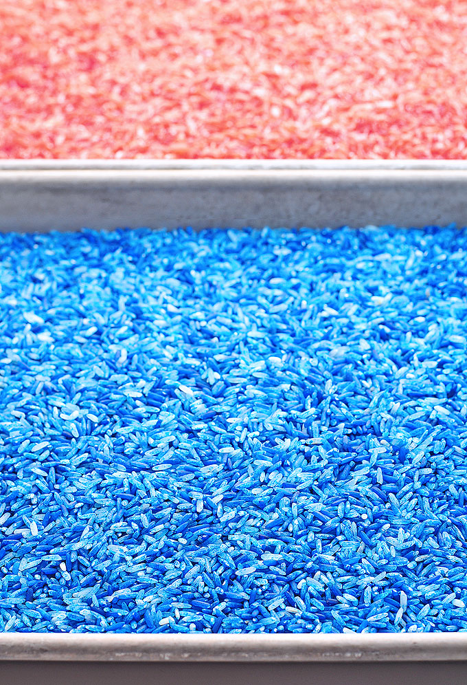 Easy DIY Red White and Blue Party Decoration