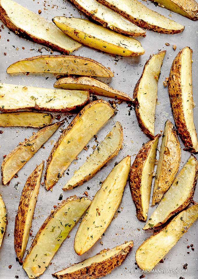 garlic roasted taters