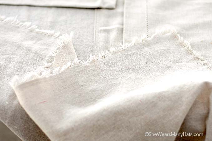 This easy DIY No-Sew Tablecloth is a great way to make a large tablecloth inexpensively.