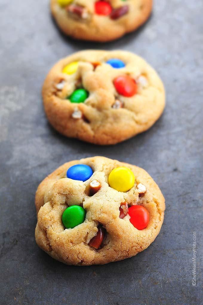 Pretzel M&M Cookies Recipe