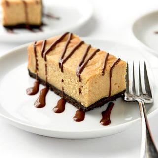 Chocolate Peanut Butter Cheesecake Bars Recipe   shewearsmanyhats.com