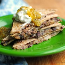Black Bean Cheese Quesadillas are so tasty for a quick lunch or appetizer.