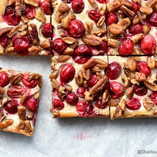 Nutty Oatmeal Cranberry Bars Recipe | shewearsmanyhats.com