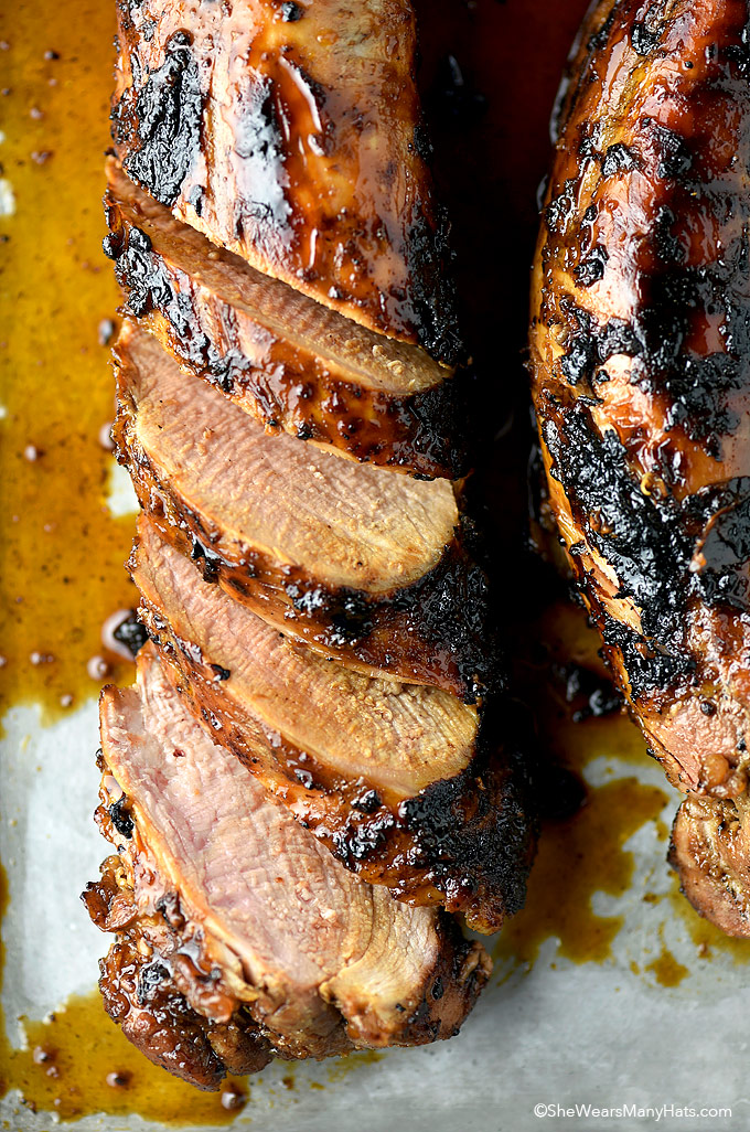 Honey Soy Glazed Pork Tenderloin Recipe   shewearsmanyhats.com