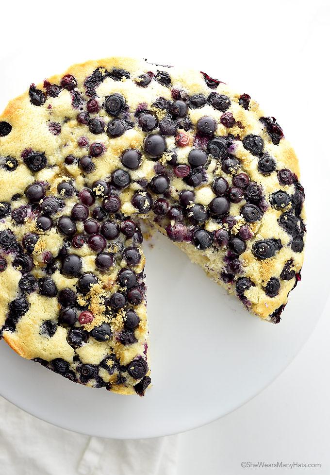 Easy Lemon Blueberry Buttermilk Cake | shewearsmanyhats.com