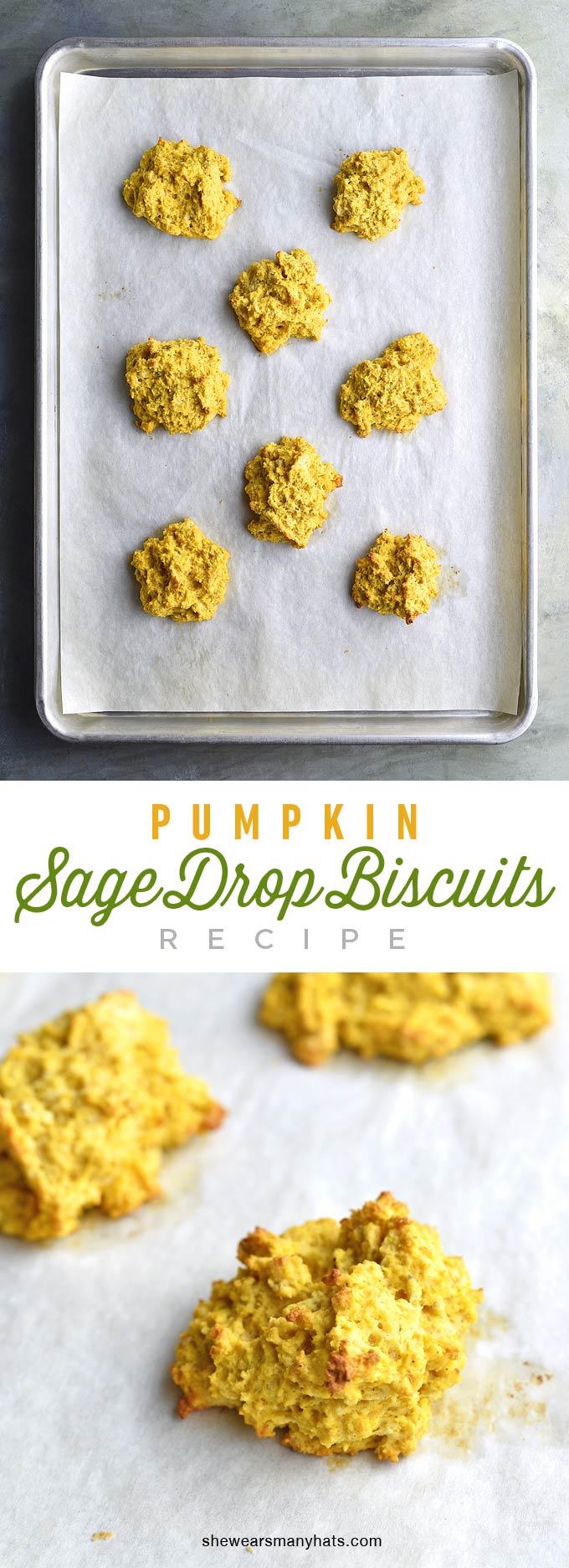 Easy Pumpkin Sage Drop Biscuits Recipe