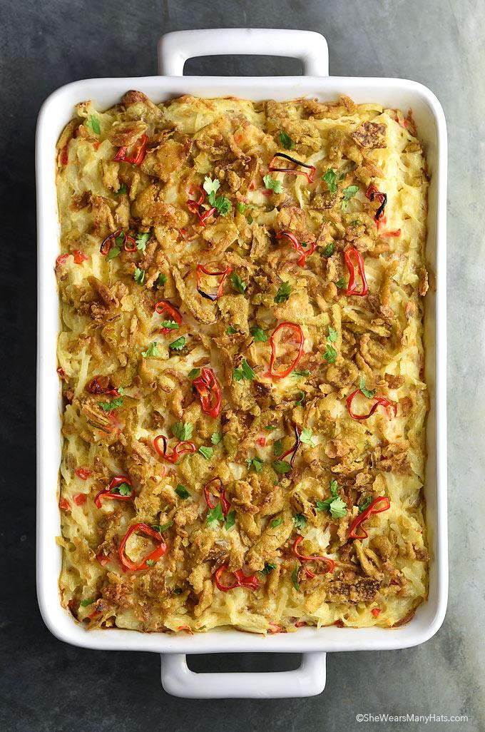 Easy Crispy Jalapeños Hash Brown Casserole Recipe