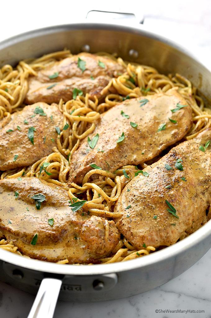 Easy Chicken Lazone Pasta Recipe   shewearsmanyhats.com