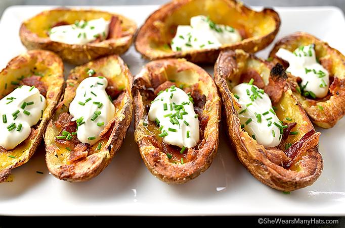 Potato Skins Recipe | shewearsmanyhats.com