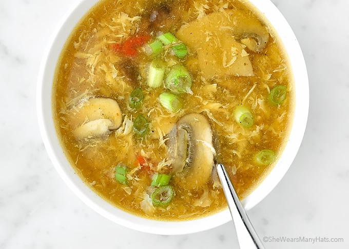 Easy Hot and Sour Soup Recipe | shewearsmanyhats.com