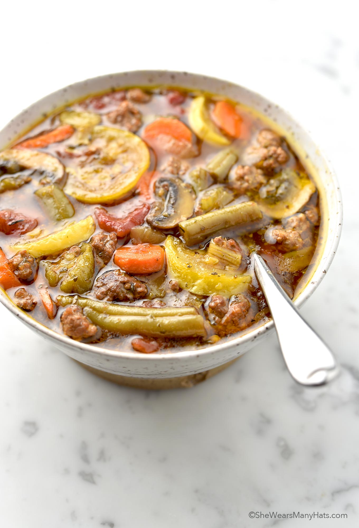 Vegetable Beef Soup Recipe   shewearsmanyhats.com