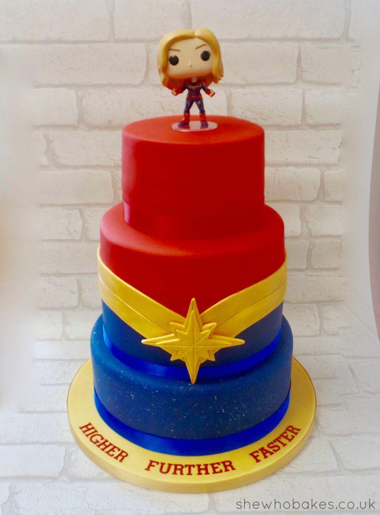 My Captain Marvel Birthday Cake She Who Bakes