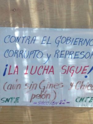 The struggle continues against the corrupt and repressive government.