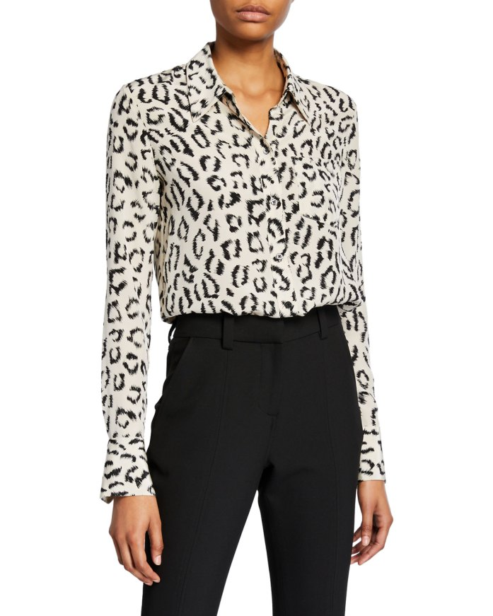 office attire - A.L.C. Emerson Printed Button-Down Top