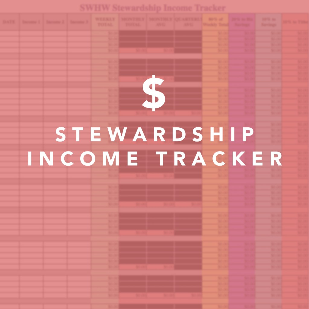 she works HIS way Stewardship Income Tracker