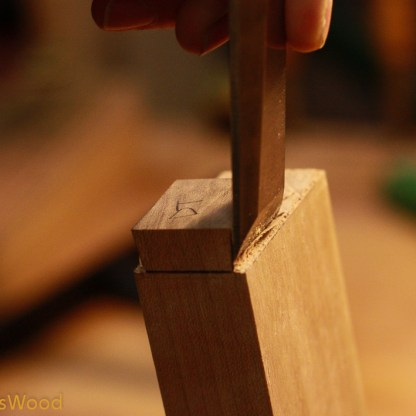 I sawed most of the waste and then used a chisel to reveal the dovetail.