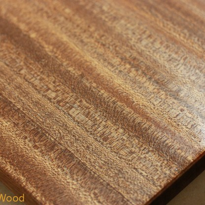 Close up of African Mahogany with finish.