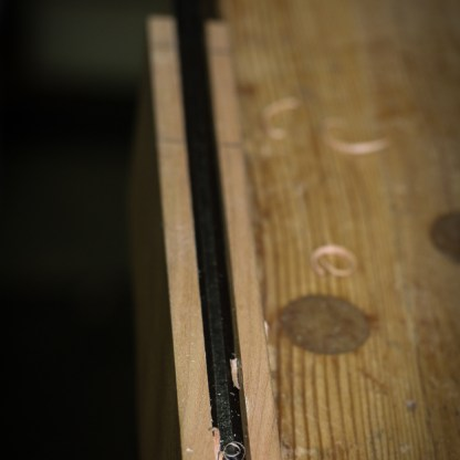 After making the grooves, I used my looong paring chisel to clean things up.