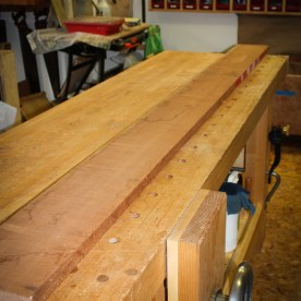 Molding stock. Fortunately, this will fit through the planer .. so I only have to flatten one side.