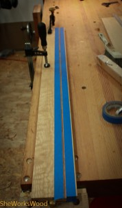I cut a groove into the front, back and sides to install a decorative strip.