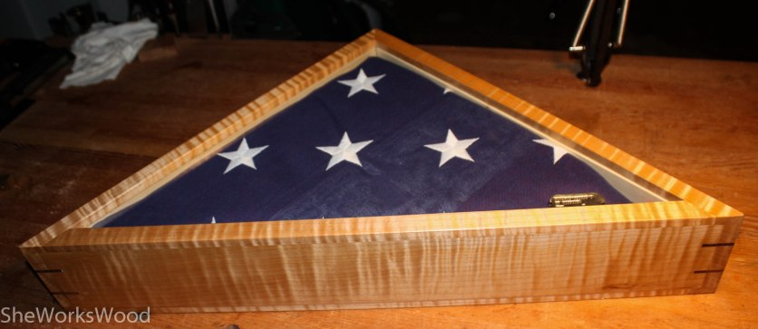 Curly maple Flag Box