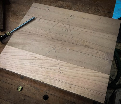 Laying out stretchers.